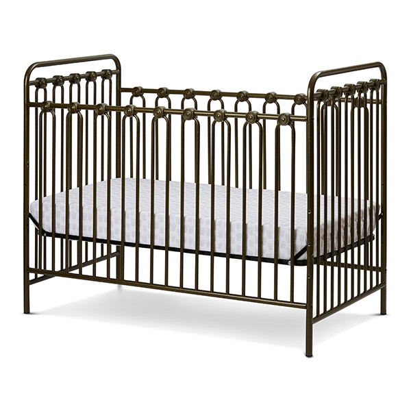Iron Crib Safety Neutral Baby Nursery With Black Iron