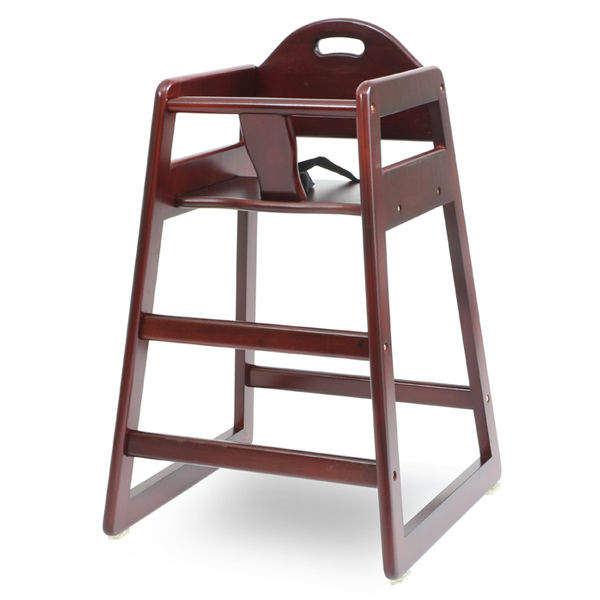 COMMERCIAL PRODUCTS · Rental; Restaurant Style Wooden High Chair